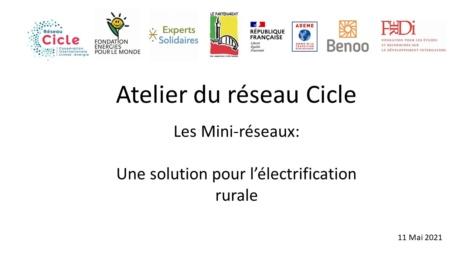 Atelier Cicle sur Mini-réseaux, la vidéo est en ligne !